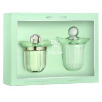 Women Secret Eau Its Fresh set(edt 100ml+B/L 200ml)-17